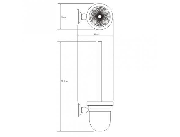 Щетка для унитаза WasserKRAFT Ammer К-7027, подвесная