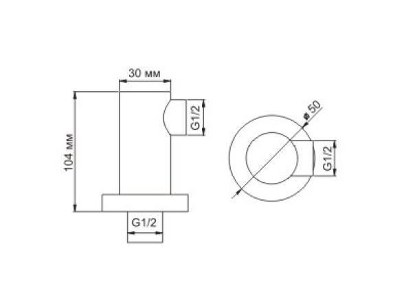 Подключение шланга WasserKRAFT А021 латунь