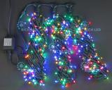 Светодиодная гирлянда Rich LED 5 нитей по 20 м, с контроллером,  цвет: мульти. Черный провод.