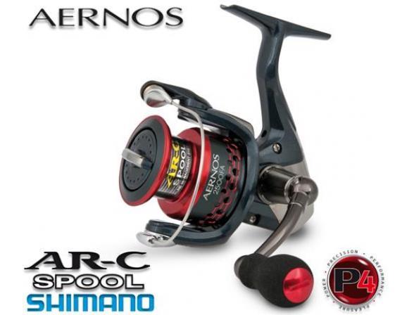 Катушка с передним фрикционом Shimano AERNOS 1000 FA