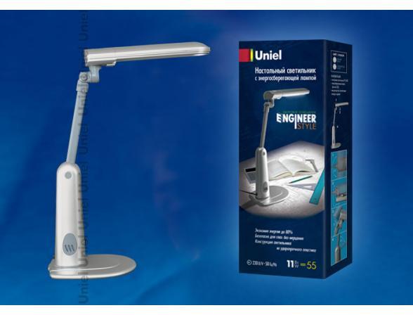Лампа настольная Uniel TTL-035 Silver. G23 11W