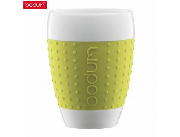 Набор бокалов BODUM 2шт. Pavina 0.4л зеленый
