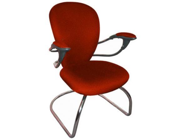 Кресло посетителя на полозьях BURO CH-661AXSN-V/Red
