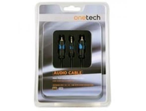 Аудио кабель Onetech AMR7003 miniJack-2RCA AMR7003 3м