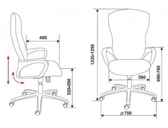 Кресло руководителя BURO CH-818AXSN/15-11