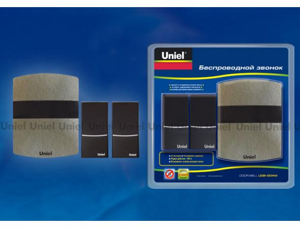 Звонок беспроводной Uniel UDB-004W-R1T2-32S-100M-DS