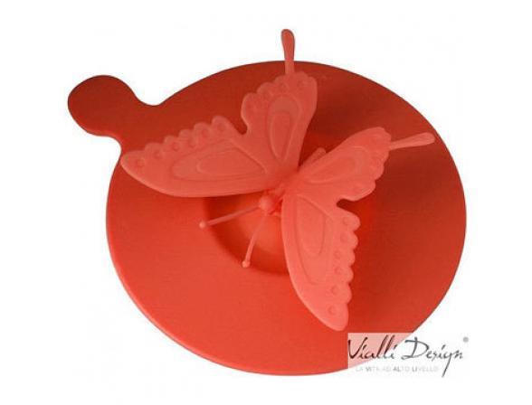 Крышка силиконовая Vialli Design LIVIO бабочка красная LCS-1R
