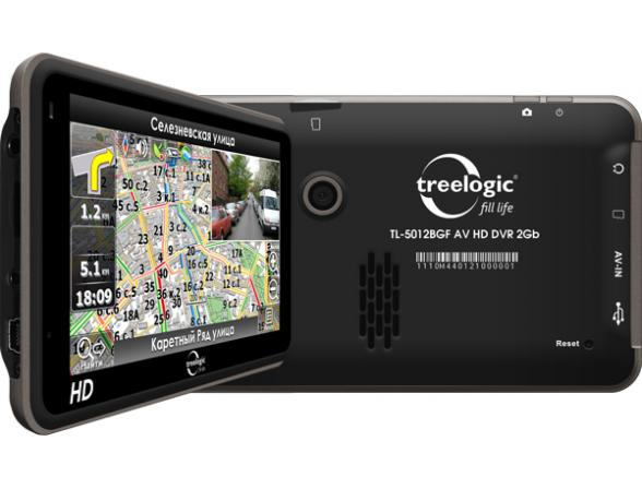 Навигатор Treelogic TL-5012BGF AV HD DVR 4Gb