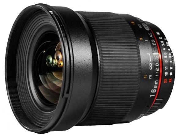Объектив Samyang 16mm f/2.0 ED AS UMC CS Canon EF