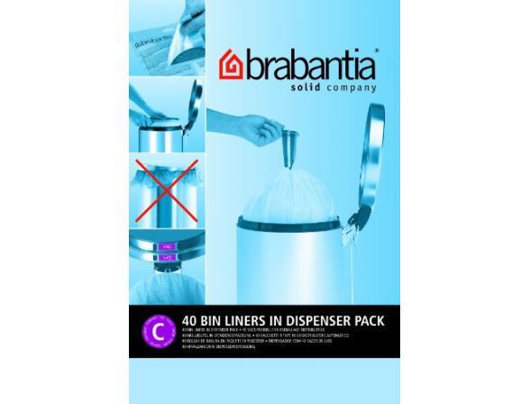 Пакет пластиковый, 10/12л 40шт Brabantia 361982