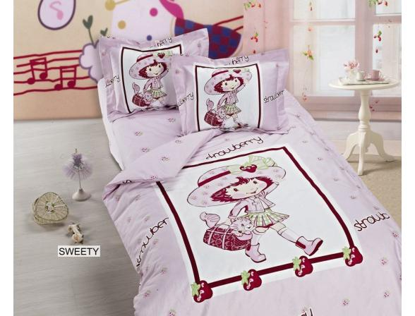 Постельное белье  для новорожденных ARYA Сатин печатное SWEETY 100x150