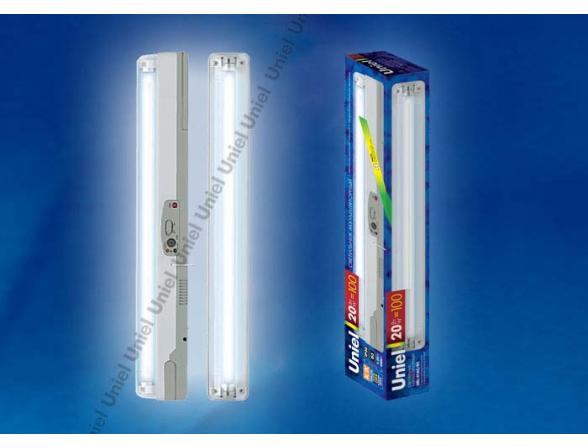 Светильник аккумуляторный Uniel URL-01-AC/DC-T8-20W1-4HRS-WH
