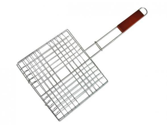 Решетка для рыбы длинная с дер. ручкой Труд Т311/3