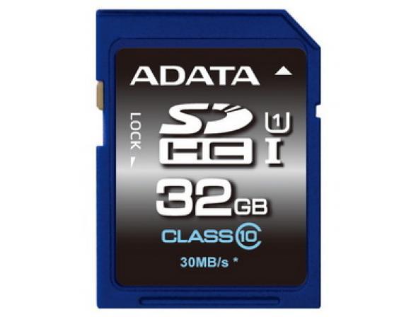 Флэш память ADATA 32GB SDHC Card Class 10 UHS-I Premium