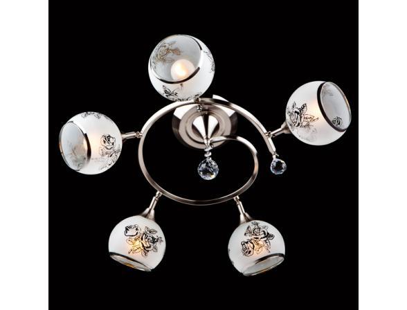 Люстра Eurosvet 9611/5 серебро/белый