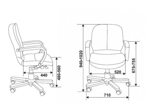 Кресло руководителя BURO 722/B