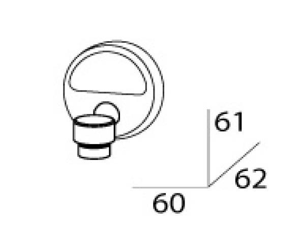 Мыльница магнитная FBS LUXIA LUX 005