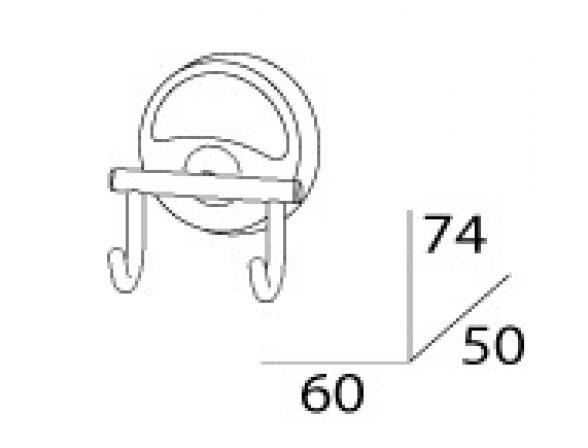 Крючок двойной FBS ELLEA ELL 002