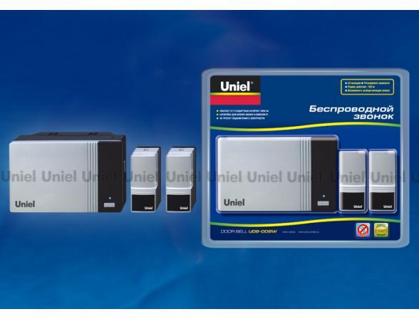 Звонок беспроводной Uniel UDB-008W-R1T2-32S-100M-SL