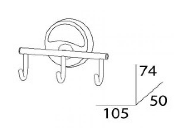 Крючок тройной FBS ELLEA ELL 003