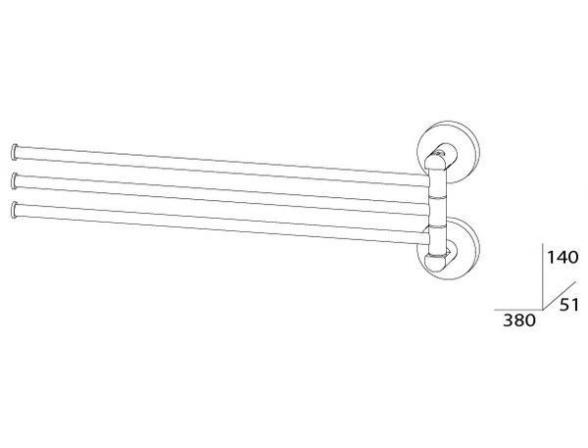 Держатель полотенец поворотный тройной ARTWELLE HARMONIA HAR 024 37 см
