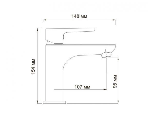 Смеситель для умывальника WasserKRAFT Leine 3504