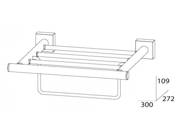 Полка для полотенец с нижним держателем FBS ESPERADO 30 см ESP 039