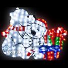 Светодиодная фигура Rich LED акриловые Мишки ,110*95 см, 256 LED, 220/24В.
