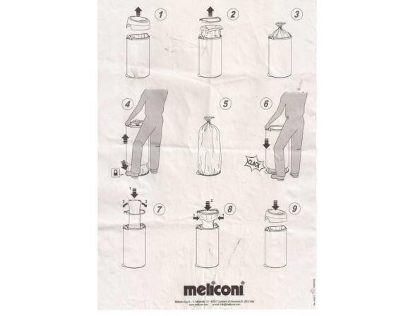 Бак для мусора Melicony 40 л, сталь матовый
