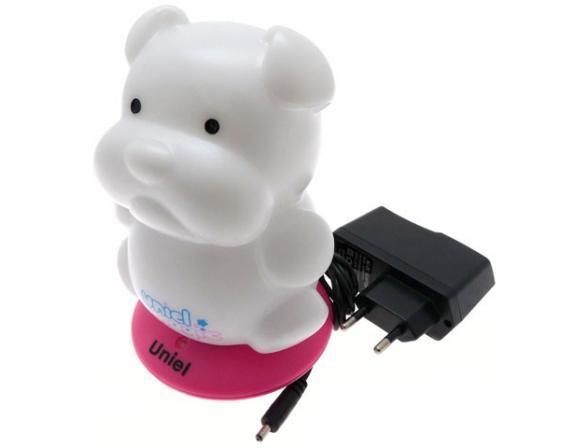 Светильник-ночник Uniel DTL-305-Бульдожка/3color/Base pink/Rech