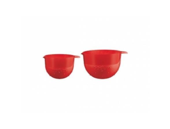 Набор мисок BODUM 2 шт Bistro 1.4л, 2.8л красный