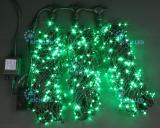Светодиодная гирлянда Rich LED 3 нити по 20 м, цвет: зеленый. Черный провод.