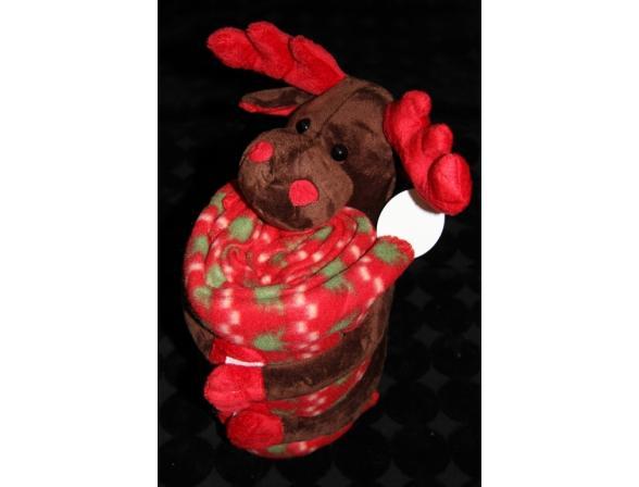 Плед с игрушками ARYA Reindeer Big