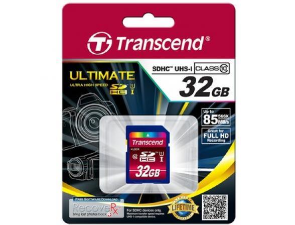 Флэш память Transcend 32Gb SDHC Card Class 10 UHS-I