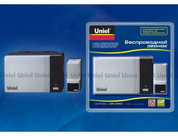 Звонок беспроводной Uniel UDB-006W-R1T1-32S-100M-SL