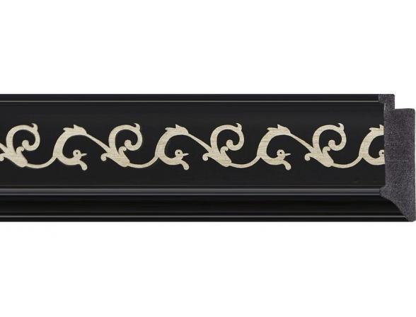 Зеркало в багетной раме EVOFORM черный ардеко (75х165 см) BY 1205