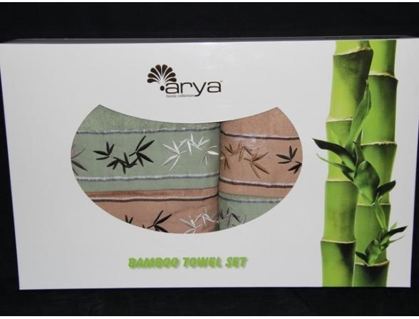 Комплект полотенец ARYA Бамбук 4 пр. 50х90 2шт. 70х140 2шт.