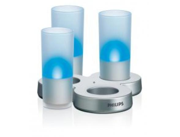 Декоративный светильник Philips 817648 IMAGEO LED Candle 3set EU Blue (5/90) 3 свечи