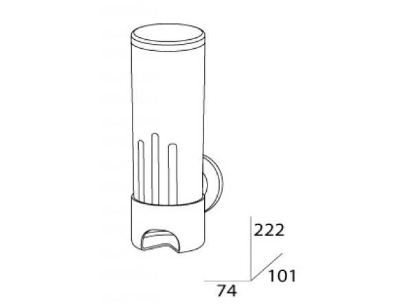 Контейнер для косметических дисков (пластик) FBS STANDARD STA 019