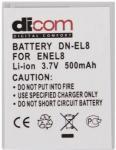 Аккумулятор Dicom DN-EL8 for Nikon EN-EL8