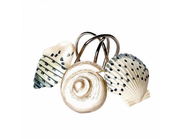 Набор из 12 крючков для шторки AVANTI Hampton Shells
