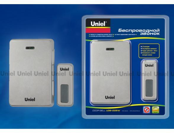 Звонок беспроводной Uniel UDB-005W-R1T1-32S-100M-SL