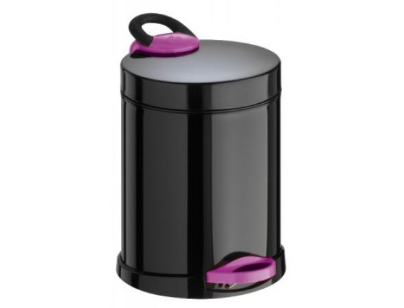 Ведро для мусора Meliconi OPERA 5л (черный/фуксия)