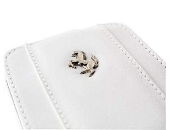 Чехол Ferrari для iPhone 4/4s Etui Flap (белый)