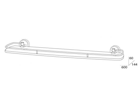 Полка с ограничителем FBS ELLEA 60 см ELL 016