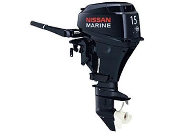 Лодочный мотор NISSAN MARINE 2-х тактный NS 15 D2 1