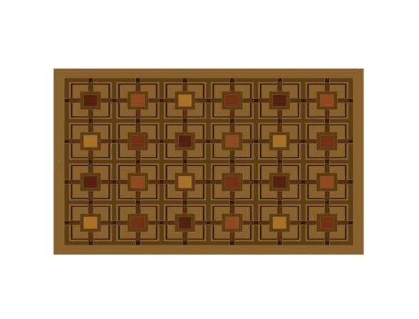 Коврик резиновый Mohawk 46*76 Boxes in Boxes