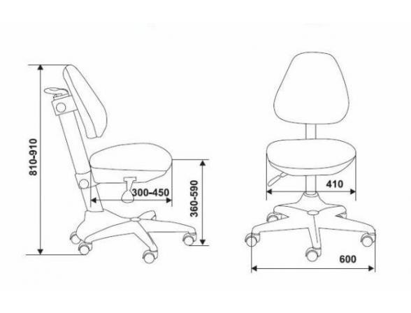 Кресло BURO KD-2/G/TW-10