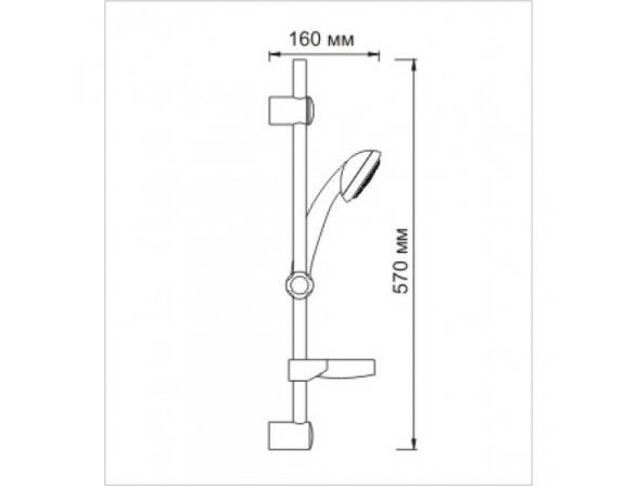 Душевой комплект WasserKRAFT А005