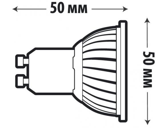 Светодиодная лампа X-flash Spotlight MR16 GU10 3 Вт, жёлтый/матовый рассеиватель